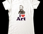 I Love (Heart) Art shirt - Printed on Super Soft Cotton Jersey T-Shirts for Women and Men