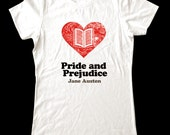 Love (Heart)  Pride and Prejudice - Soft Cotton T Shirts for Women, Men/Unisex, Kids