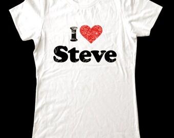 I Love (Heart) Names (Custom) - Soft Cotton T Shirts for Women, Men/Unisex, Kids