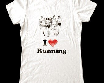 I Love (Heart) RUNNING - Soft Cotton T Shirts for Women, Men/Unisex, Kids