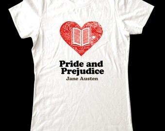 Love (Heart)  Pride and Prejudice - Soft Cotton T Shirts for Women, Men/Unisex, Kids
