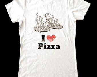 I Love (Heart) PIZZA - Soft Cotton T Shirts for Women, Men/Unisex, Kids