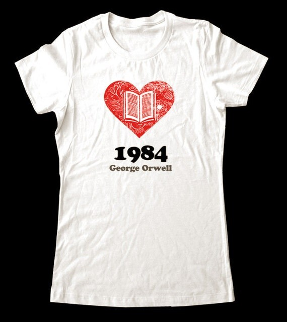 Love (Heart) 1984 George Orwell - Soft Cotton T Shirts for Women, Men/Unisex, Kids
