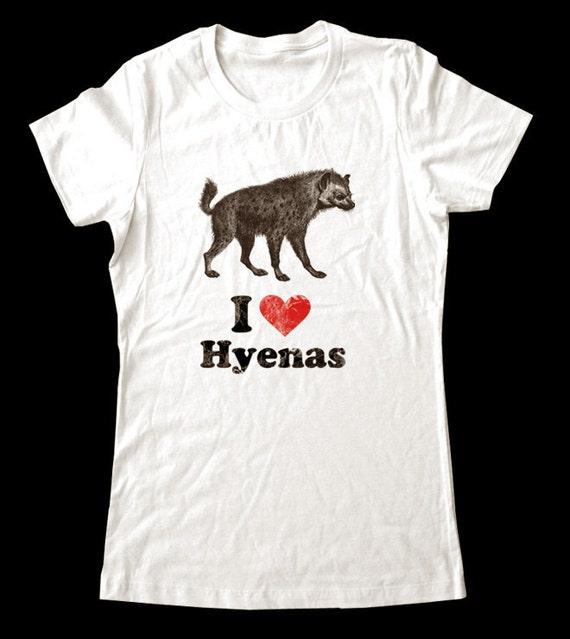 I Love (Heart) HYENAS - Soft Cotton T Shirts for Women, Men/Unisex, Kids