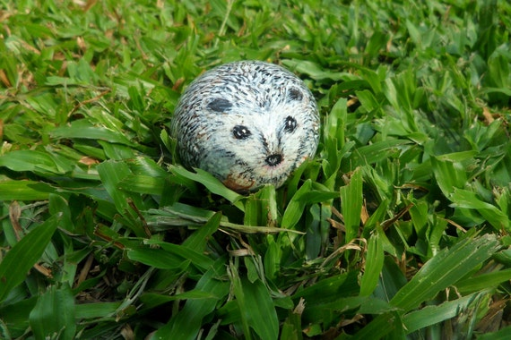 Hedgehog Handpainted Pet Rock