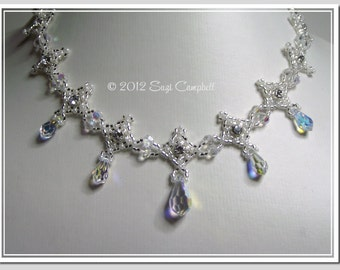 Beadwoven Necklace - BWN07 - BRIDAL WALTZ