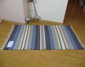 Hand-woven candy cotton rag rug