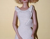 OOAK 3 PCS Crochet Set: Dress, Purse, and a Hat. Fit Tyler Wenthworth and any 16 inches similar doll.