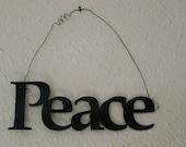 Inspirational Word PEACE Wall Hanging Home Decor Metal