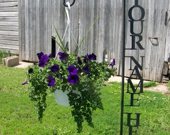 Shepherd Hook PERSONALIZED with YOUR NAME Yard Garden Decor Art Plant Holder Hook