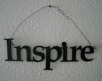 Inspirational Word INSPIRE Wall Hanging Home Decor Metal