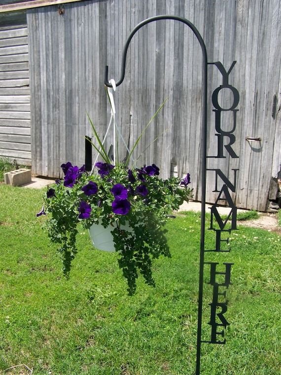 Shepherd Hook PERSONALIZED with YOUR NAME Yard Garden Decor