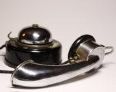 BEAUTIFUL original French HORN WALLPHONE 1910 Thomson Houston Paris - Loft deco
