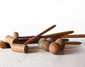 Lovely vintage MINI FRENCH Table CROQUET wooden  game