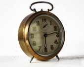 Antique French Golden BAYARD Alarm clock