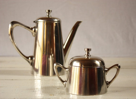 Great ART DECO french coffee and sugar pots