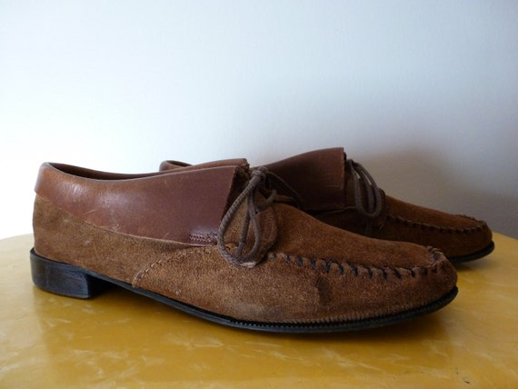 60's Suede Moccasin Chippewa Chief Shoes 9.5