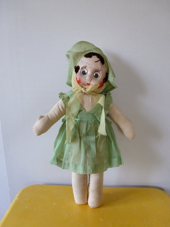 40's Baby Doll in a Pinafore Dress