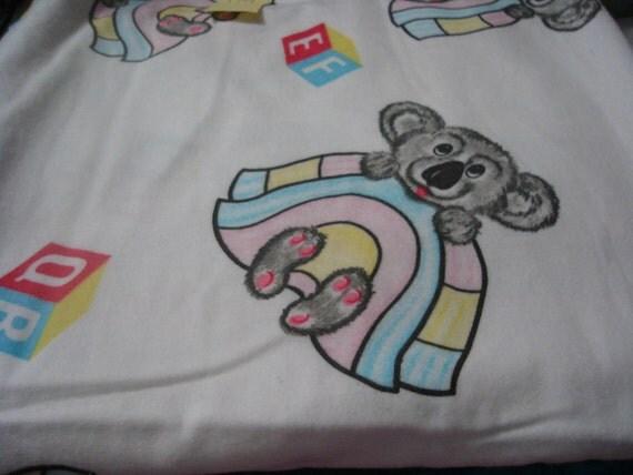 Baby bear flannel