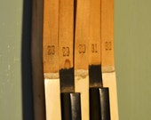 Antique Piano Keys 28 to 32 Wall Art Key Hooks upcycled OOAK