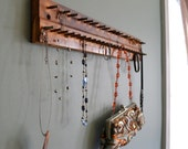 Jewelry Purse Organizer upcycled piano antique old rustic wood metal Ready to Ship