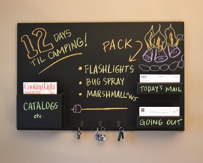 mail organizer chalkboard medium wall mounted by inorder2organize