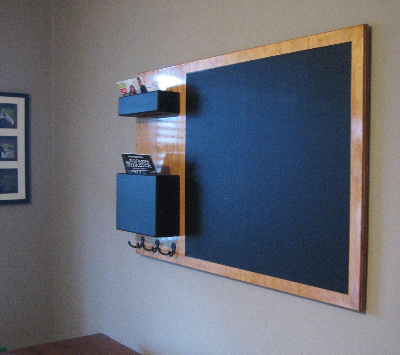 stained mail organizer chalkboard medium wall by inorder2organize