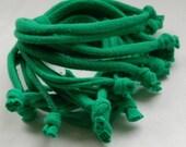 St Patricks Day Cotton jersey bracelet cuff GREEN