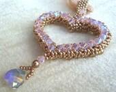 Valentine's Heart Crystal / Pearl Pendant Tutorial