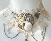 THE OCEAN BRIDE Beach Wedding Lace Choker Bridal Necklace