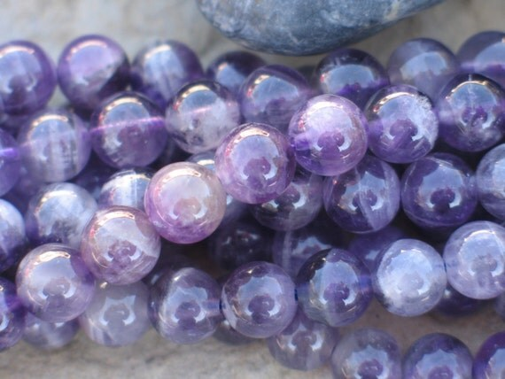 Amethyst beads 8mm rounds are perfect for your mala