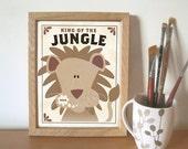 Lion Kids Art Print King of the Jungle
