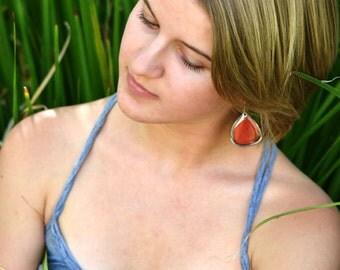 Real red butterfly earrings (bottom wings)