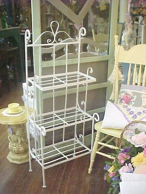 Shabby Chic Vintage Wrought Iron Planter Plant By