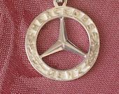 key holder, vintage Mercedes Benz sterling silver key holder