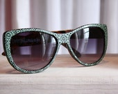 Henna Sunnies - Seafoam Pinga - hand-painted sunglasses - OOAK