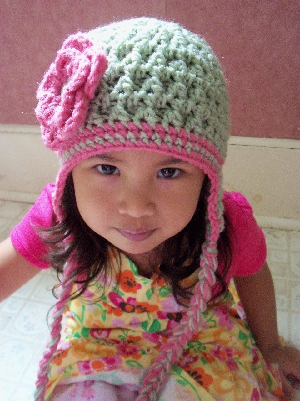 Crochet Patterns Hats For Toddlers : Crochet Children HatToddler Hat Baby Girl Hat Crochet