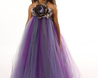 Flower Girl Tutu Dress - Purple - Amethyst Eclipse - 3-4 Toddler Girl