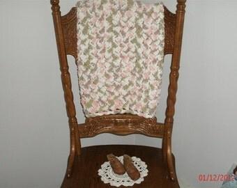 Tumbleweed Crocheted Cotton Baby Blanket