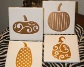 Set of 4 Pumpkin Coasters