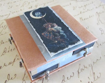 Matchbox trinket box with 8 tiny drawers - Celestial - Fantasy - Elfin