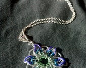 Cool Colours Celtic Star Chainmaille Necklace
