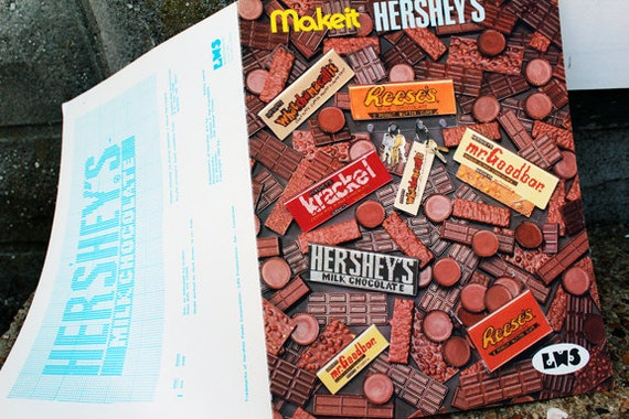 Vintage 1980s Hershey Chocolate Cross Stitch Sampler