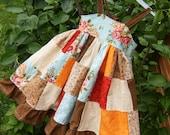 Girls Custom Twirly Patchwork Dress--Jessica