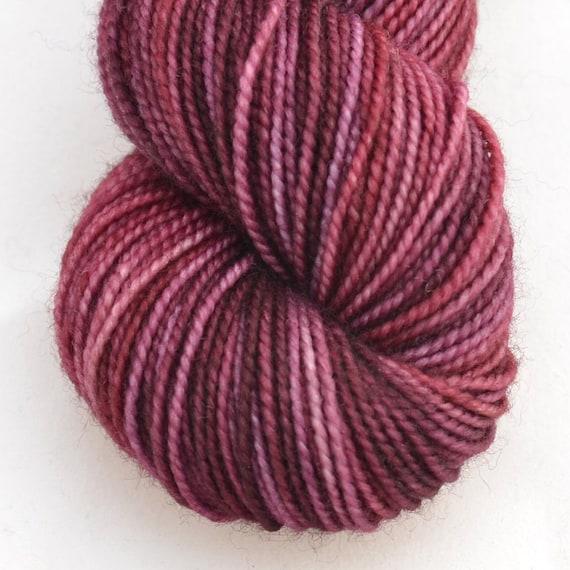 "Fingering Weight, ""In The Evening"" Merino Wool Superwash Yarn, 4 oz, machine washable yarn"