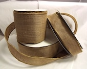 """Wired Natural Burlap 4"""" x 10 Yards"""