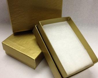 Jewelry Box 3 x 2 x 1 Gold Prox