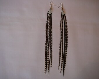 1      Grizzly Feather Earings Set ....Spring Fashion.....Accents to your Feather Hair Extension By The MyCollection2