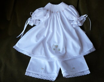 Hand Smocked Girls Dresses  ......Bishop Dress.....By The My Collection 2