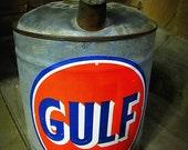 Antique Collector's Nostalgic Gulf Gas Can